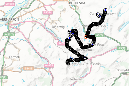 "Our Route - ""worm"" or should we say Slug!!"