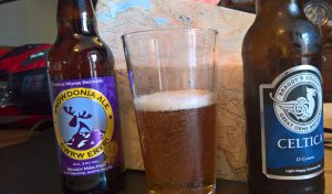 The Purple Moose Snowdonia Ale was carried up and down